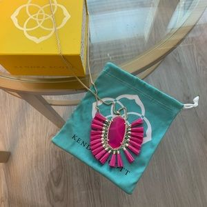 Betsy Long Pendant Necklace-Pink